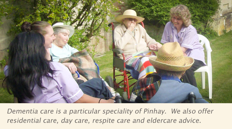 Dementia care is a particular speciality of Pinhay. We also offer residential care, day care, respite care and eldercare advice.